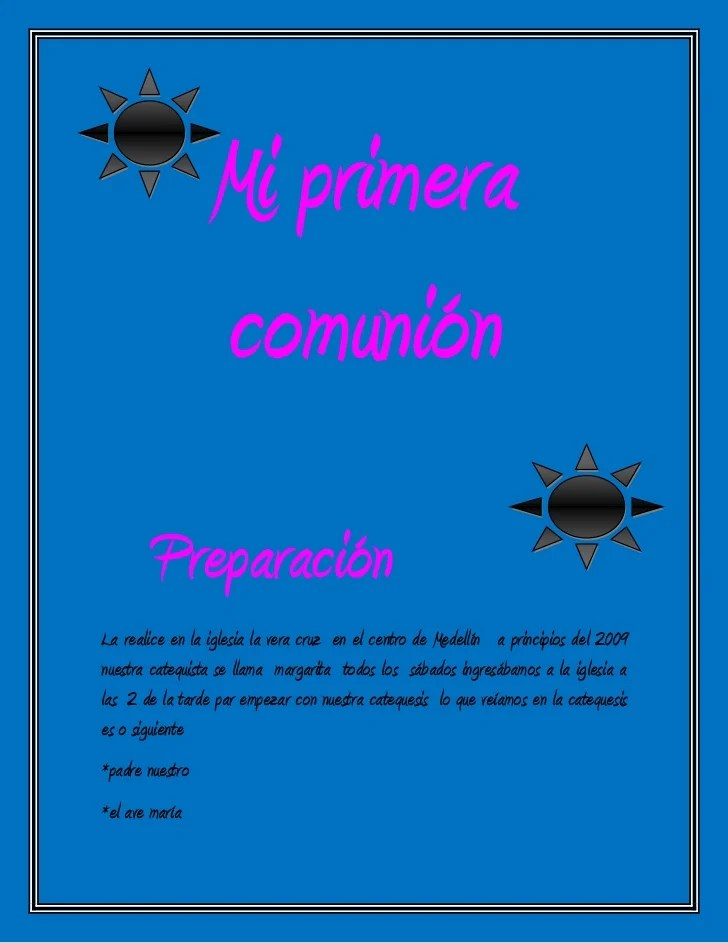 Acto De Contricion Primera Comunion