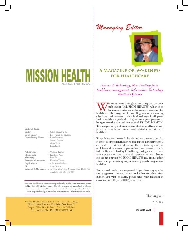Health Magazine Magazine Design Layout Design Magazine Cover Desig