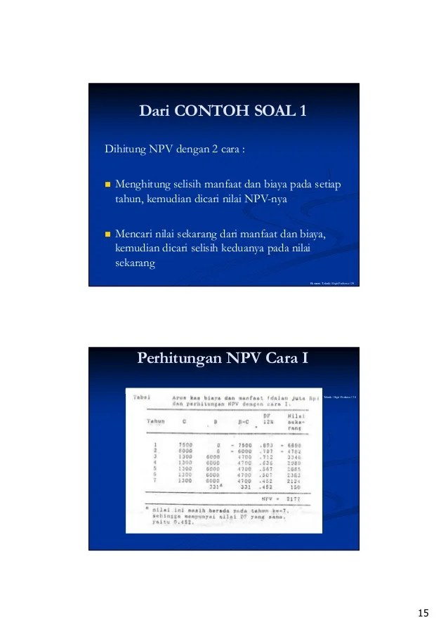 Cara Menghitung Discount Factor Dengan Excel : menghitung, discount, factor, dengan, excel, Analisa, Proyek