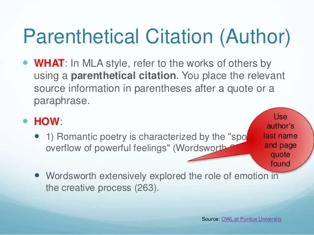 Example Of A Research Paper With Parenthetical Citations Mla