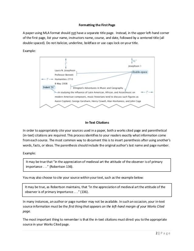 Research Paper In Mla Format Example Baskan Idai Co