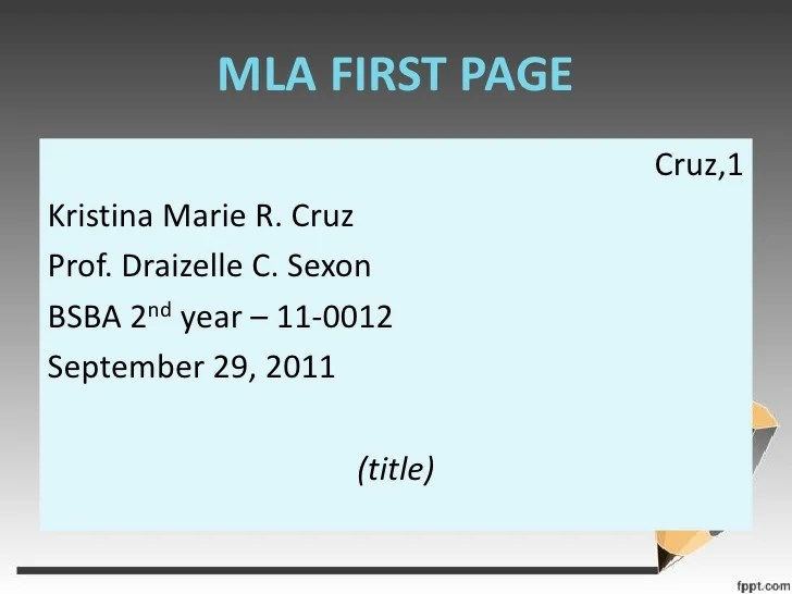 how to title an mla paper