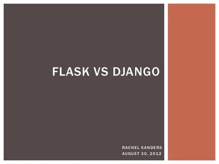Flask vs. Django