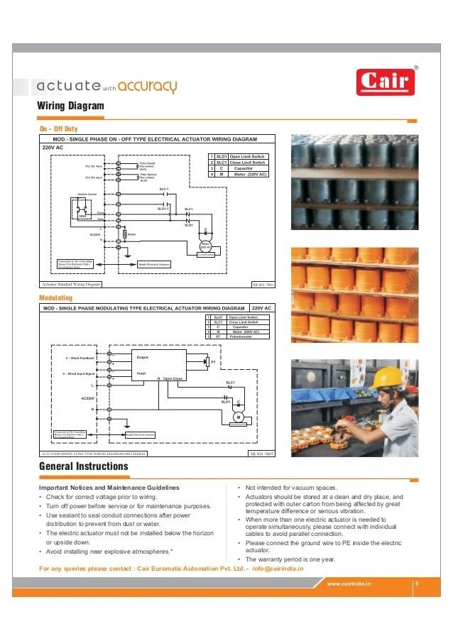 Electric Actuator Valve Damper technical catalog pdf