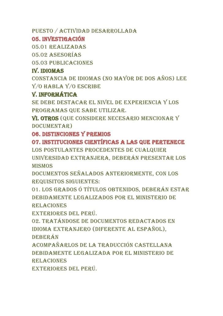 Curriculum Vitae En Peru Free Resume Templates