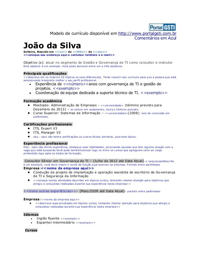 Modelo De Curriculum Vitae Chile Pdf Sample Resume Service