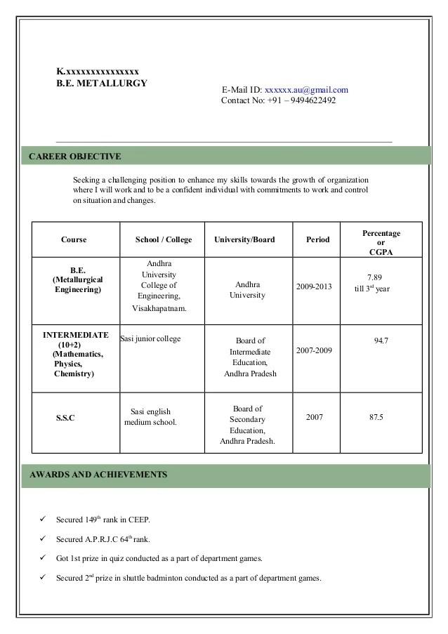 Model Resume