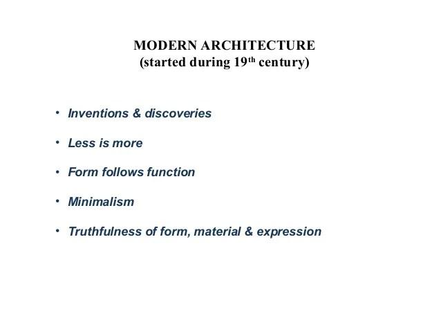 Modern Architecture History