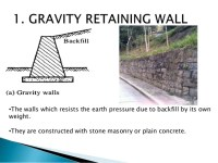 Modes of failure of retaining walls