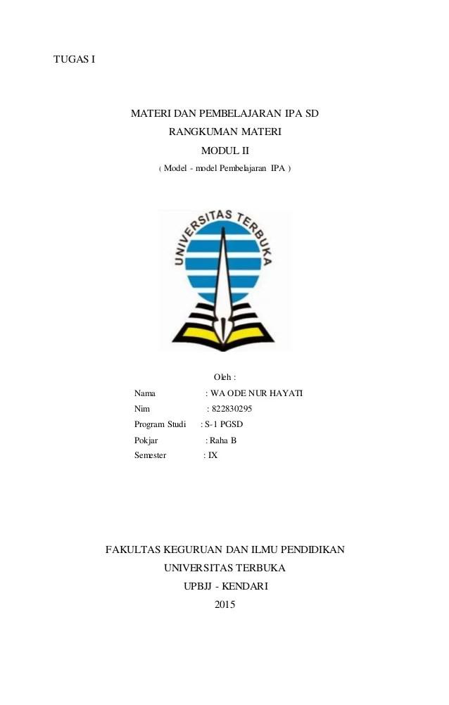 Rangkuman Materi Dan Pembelajaran Ipa Sd Pdgk4202 : rangkuman, materi, pembelajaran, pdgk4202, Modul