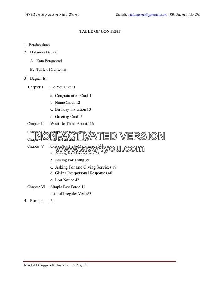 Materi Kelas 7 Bahasa Inggris : materi, kelas, bahasa, inggris, Modul, Bahasa, Inggris, Kelas, Semester