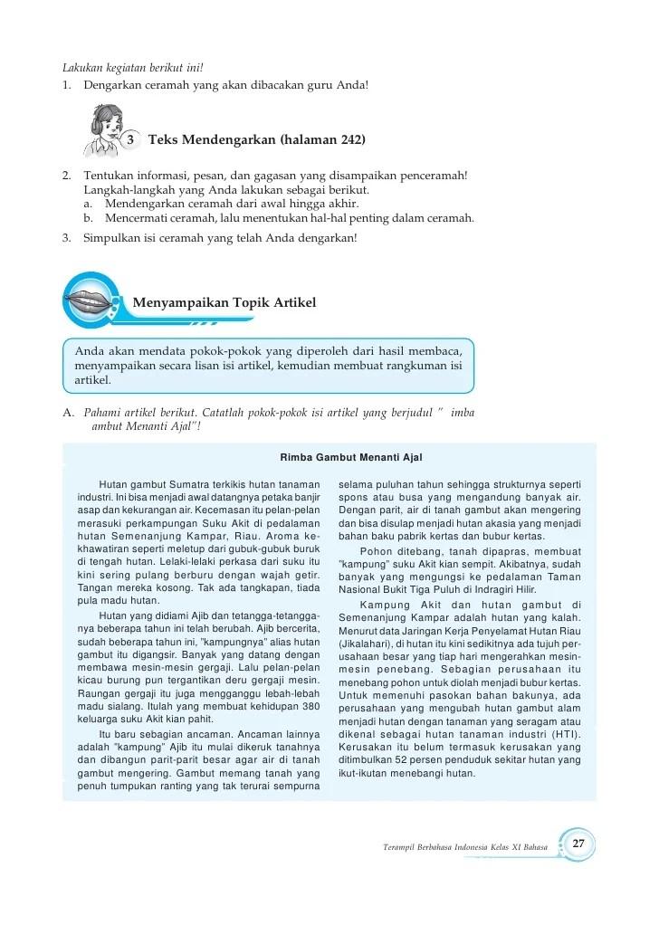 Materi Teks Ceramah Kelas 11 : materi, ceramah, kelas, Contoh, Ceramah, Bahasa, Indonesia, Kelas, Resource