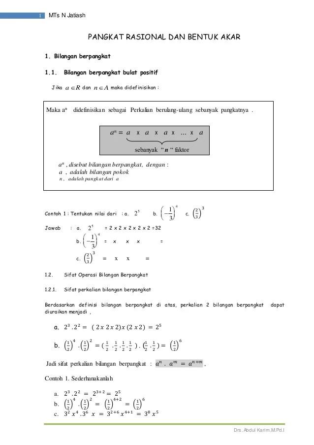 Pembagian Bilangan Berpangkat : pembagian, bilangan, berpangkat, Modul, Bilangan, Berpangkat