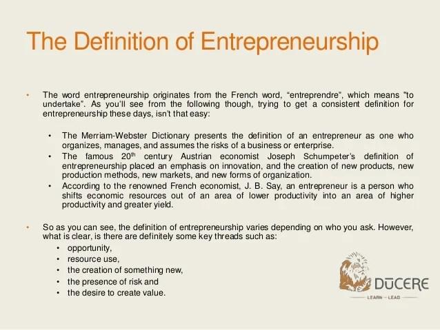 Module 1 What Is Entrepreneurship