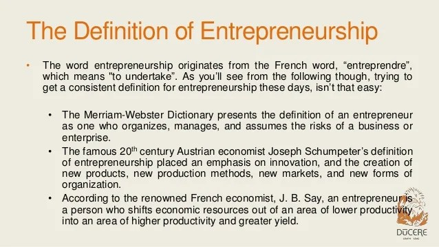 What Is Entrepreneurship