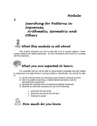 Grade 10 Math Module 1 searching for patterns, sequence ...