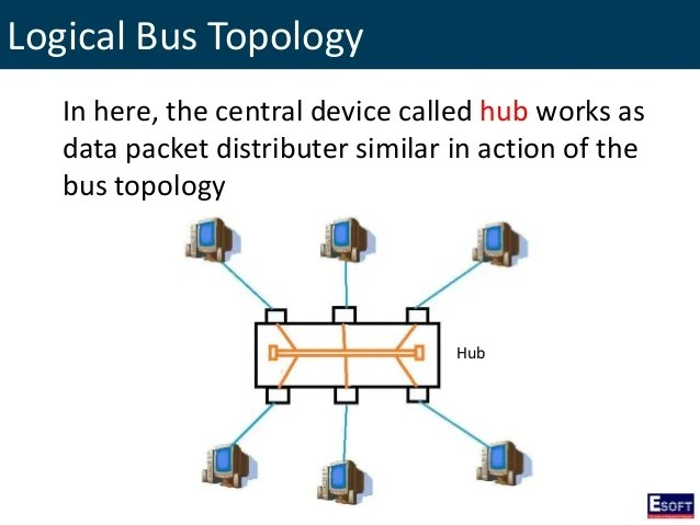 Logical Bus With A Physical Star Diagram
