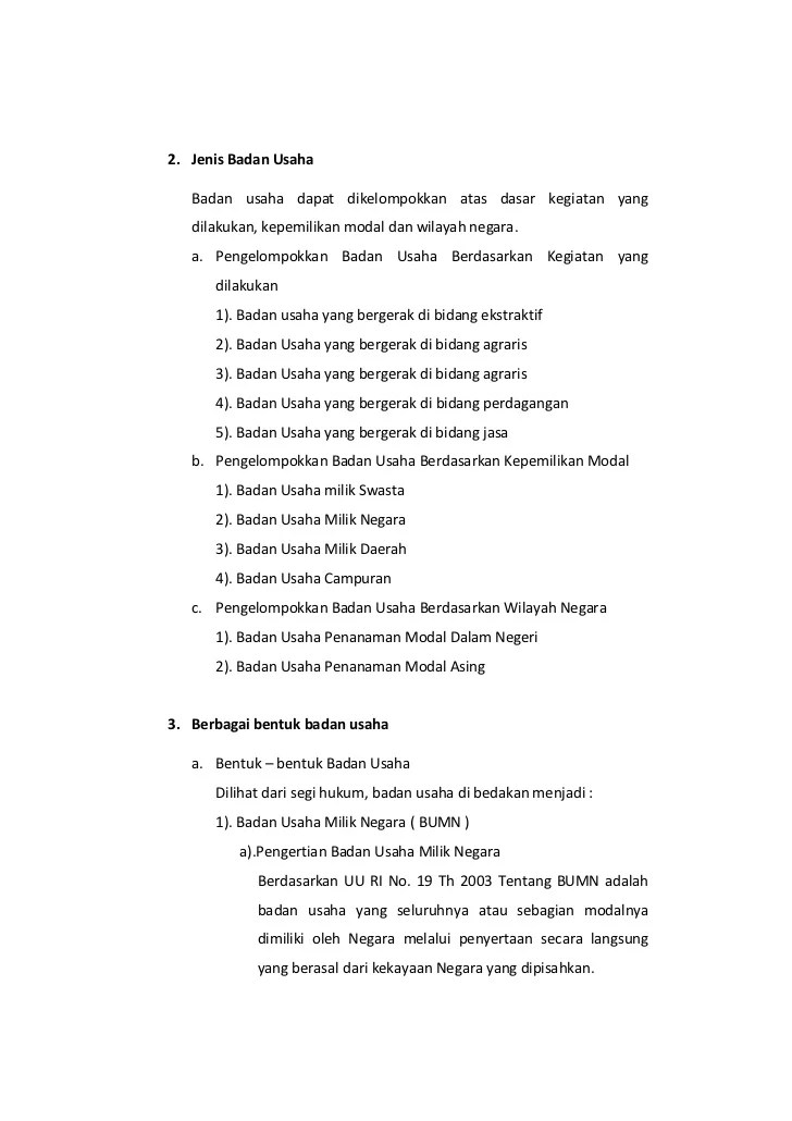 Ketahui 5 Bentuk Badan Usaha & Karakteristiknya | Libera