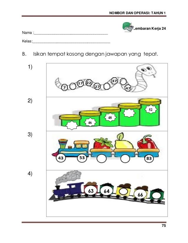 Matematik Kssr Tahun 1 Latihan 1 3 Bandingkan Pola Pola Nombor Cute766
