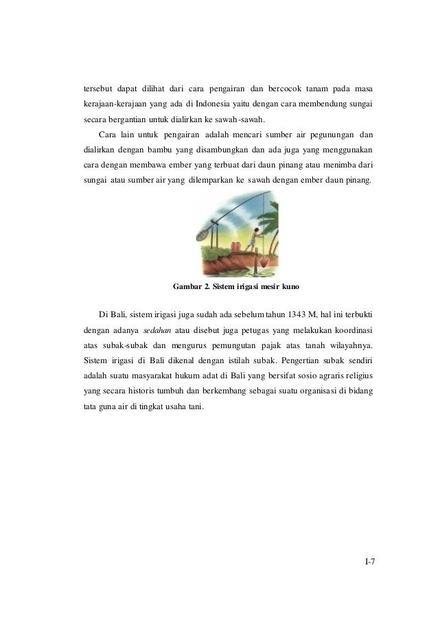 Sistem Pengairan Sawah Di Bali Disebut : sistem, pengairan, sawah, disebut, Modul, M3KB1, Perkembangan, Irigasi, Peranannya, Dalam, Pertanian