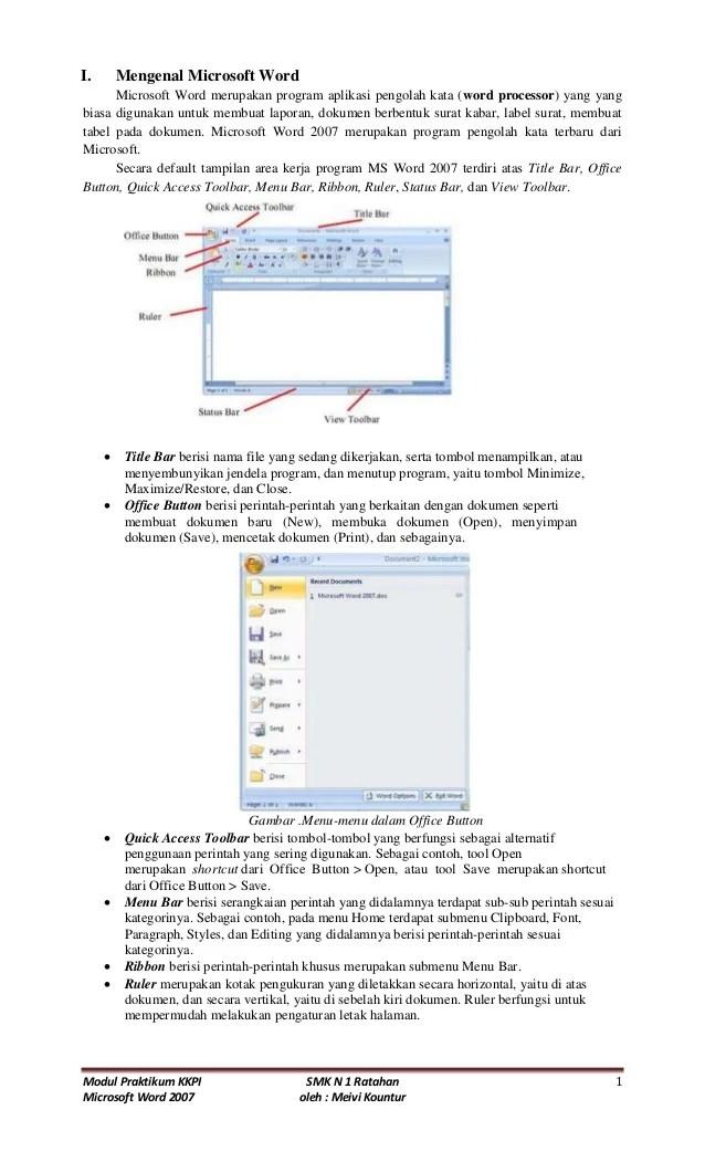 Contoh Program Yang Digunakan Untuk Mengetik Dokumen Adalah : contoh, program, digunakan, untuk, mengetik, dokumen, adalah, Modul, Microsoft, [KKPI]