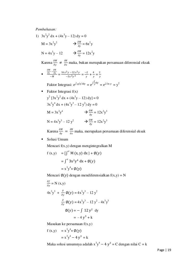 Persamaan Diferensial Eksak : persamaan, diferensial, eksak, Modul, Persamaan, Diferensial