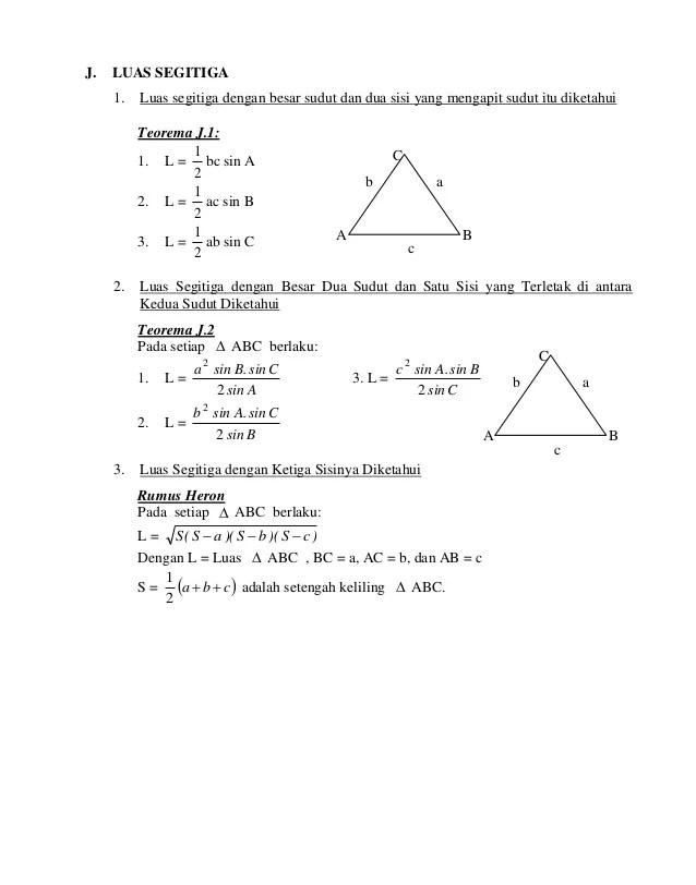 Luas Segitiga Trigonometri : segitiga, trigonometri, Modul, Trigonometri