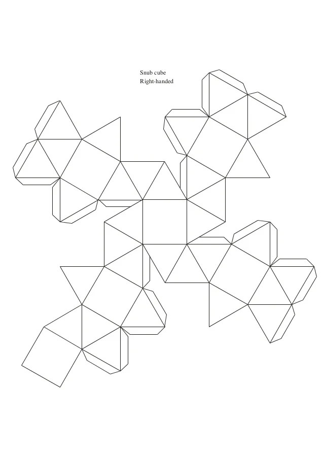 Paper Model Of A Truncated Octahedron