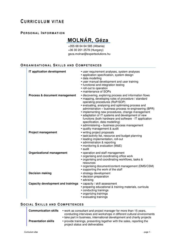 Cv Europass Model Romana 2014 Sample Service Resume