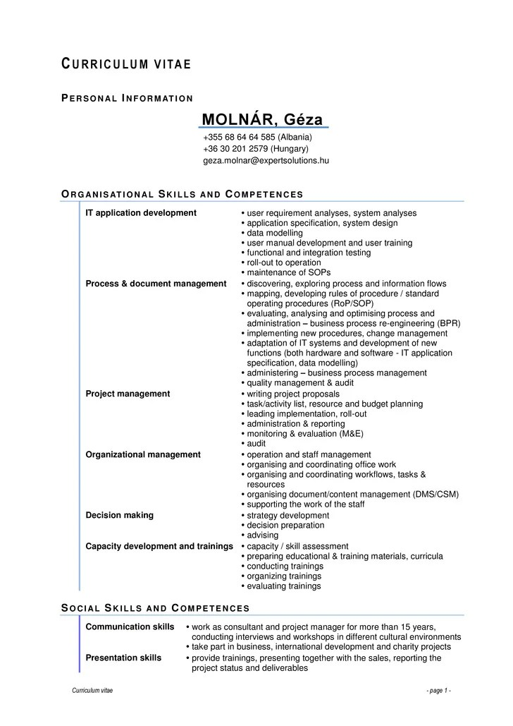 MOLNÁR Géza CV Full