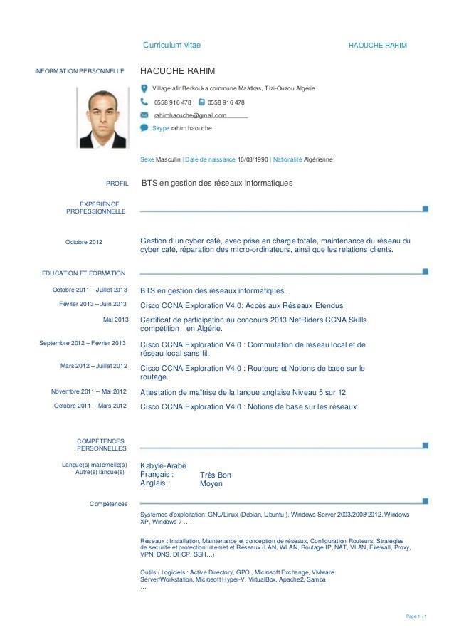 mon cv en ligne pdf
