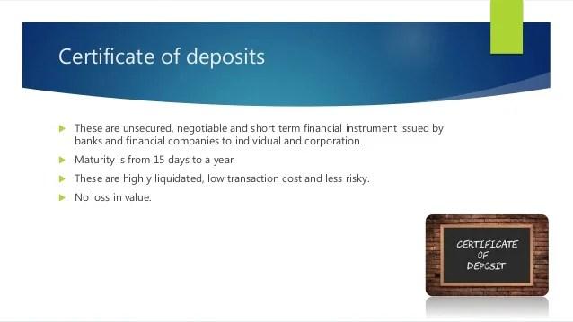 Money market, money market instruments