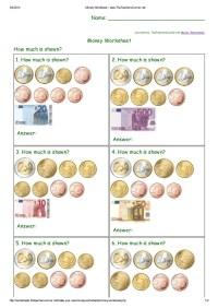 Money worksheet www.the teacherscorner