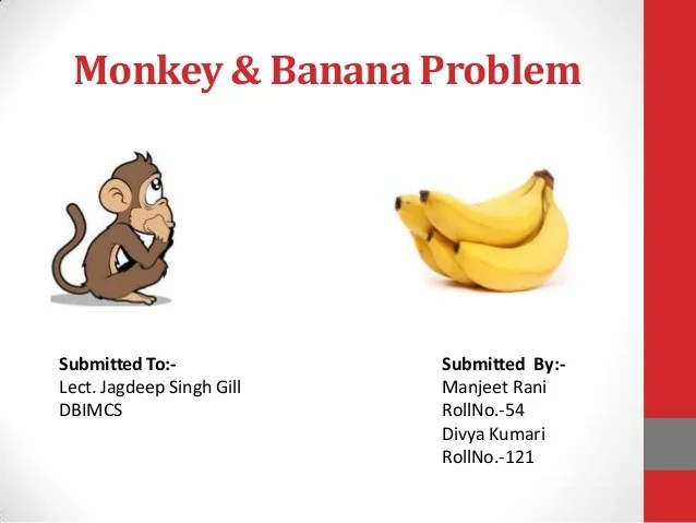 Monkey  banana problem in AI