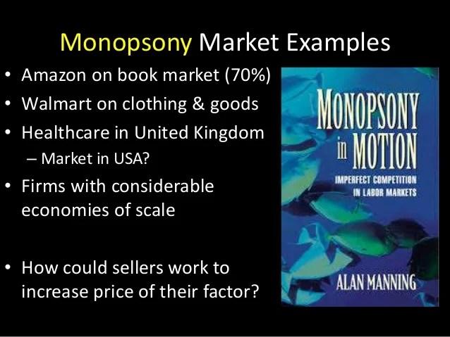 Monopsony Market Structure