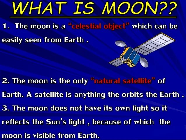 detailed information and facts about the moon