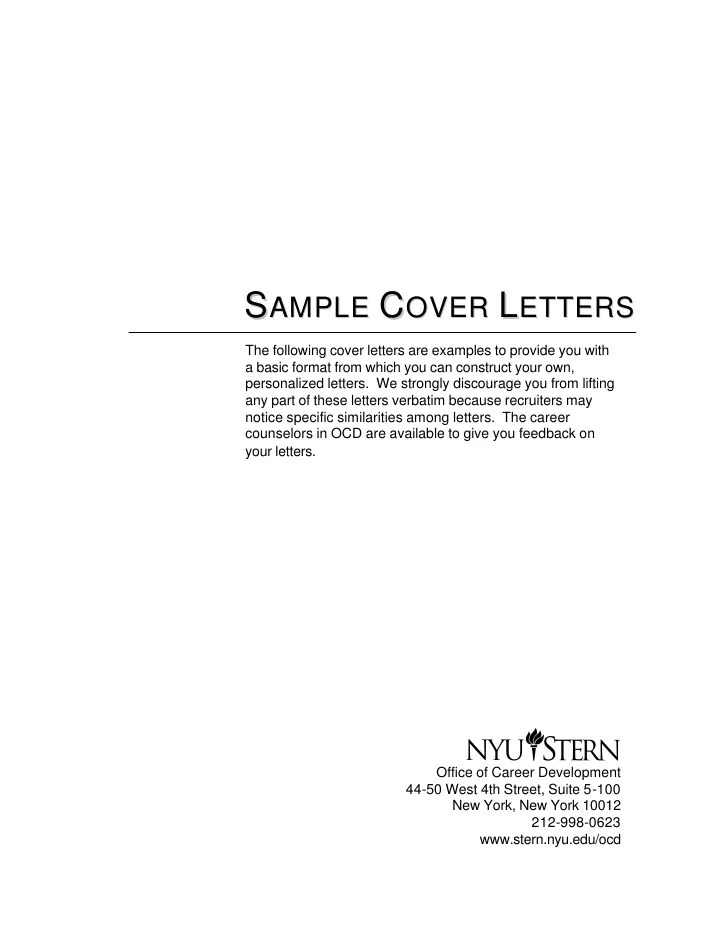 CONTOS DUNNE COMMUNICATIONS  Cover letter spontaneous