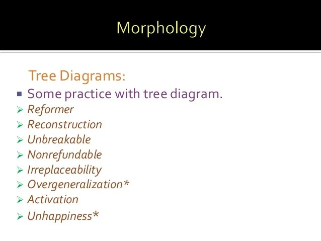 morphology tree diagram 2001 toyota celica stereo wiring diagrams