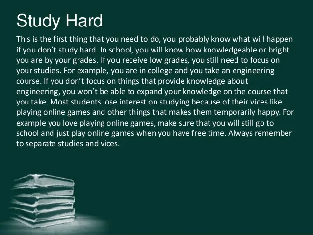 Motivate yourself to focus on your studies with personal ...
