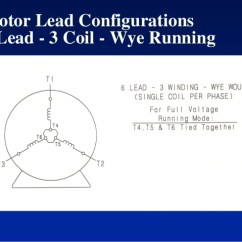 Dual Voltage Single Phase Motor Wiring Diagram Central Locking Golf 4 Motors Starting Lead Configurations 3 Coil Delta Running 79