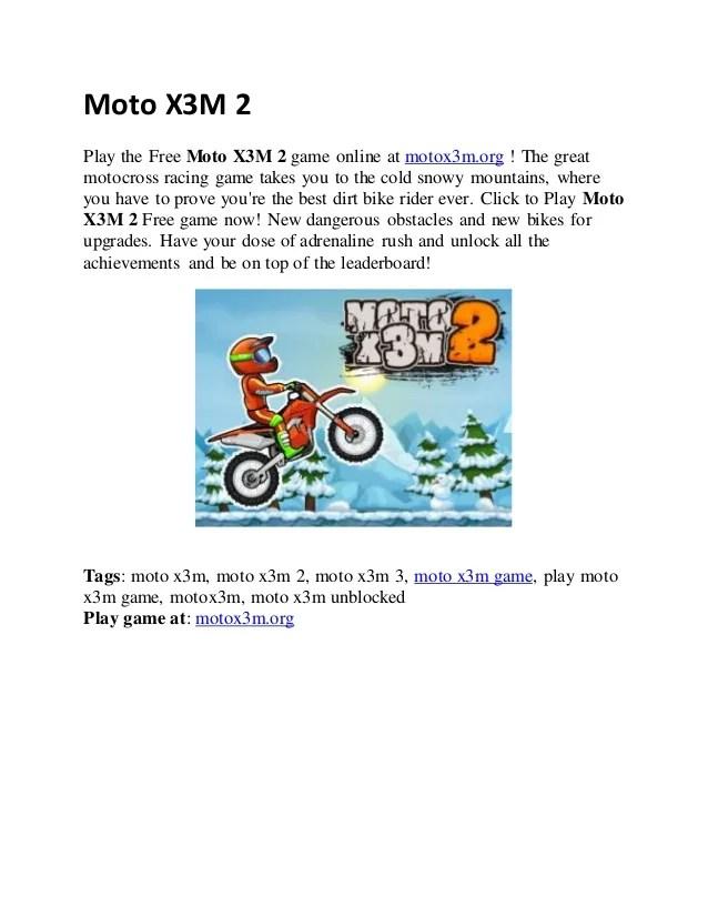 Moto X3M Bike Race Game - Play on Poki