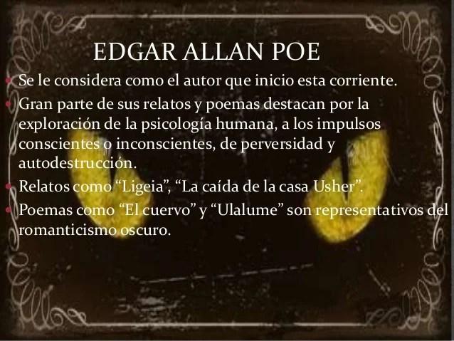 Movimiento literario Edgar Allan Poe