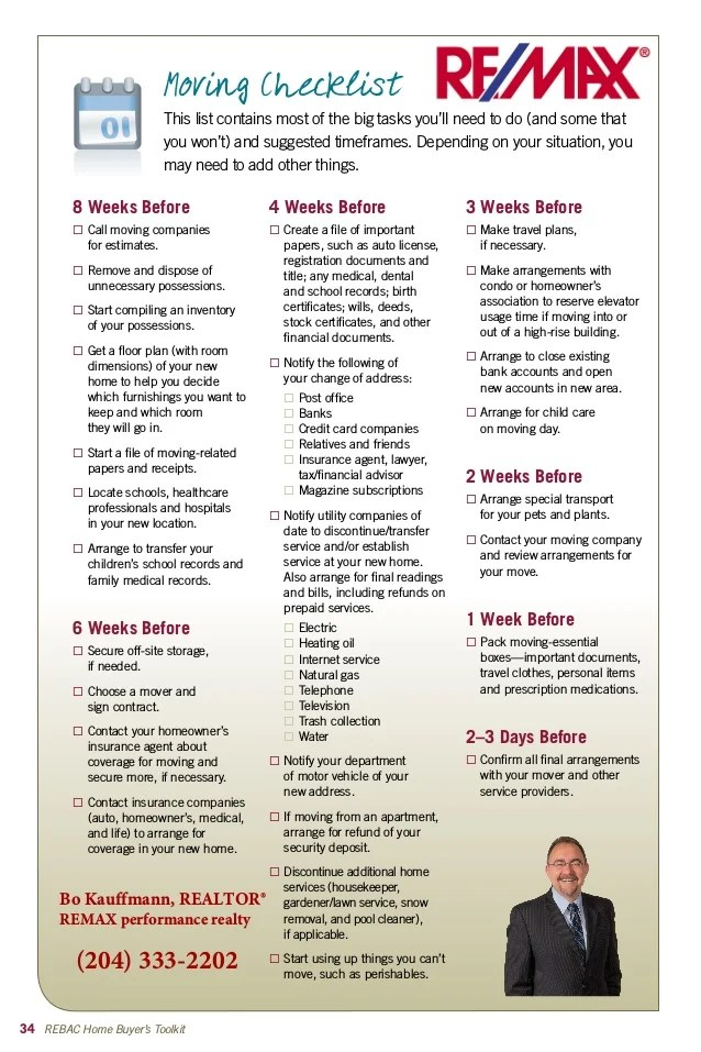 moving checklist great info