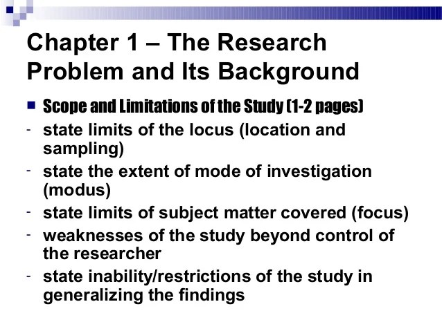 What Is Scope And Limitation In Research Paper