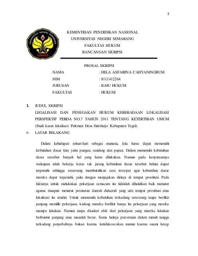 Contoh Proposal Skripsi Hukum Perdata Wanprestasi Contoh Wolu Cute766