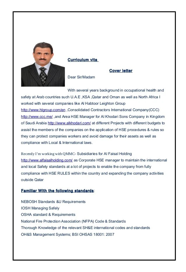 Mr Fateh Sarhan Corporate HSE Manager Update Cv