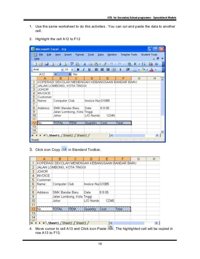 MICROSOFT EXCEL (ICTL)