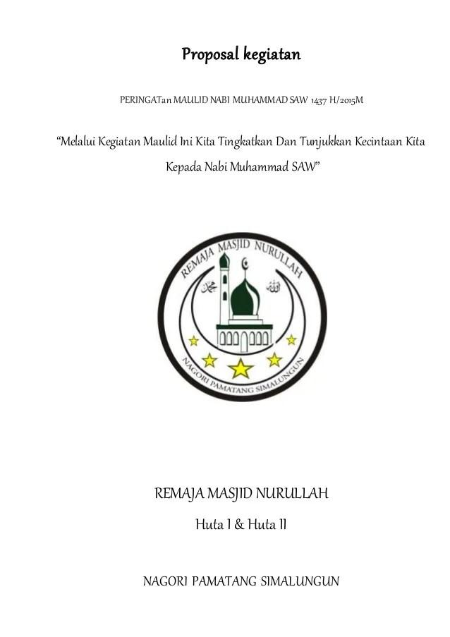 Contoh Proposal Maulid Nabi Saw Pdf : contoh, proposal, maulid, Proposal, Kegiatan, Maulid, Muhammad, 1437H/2015
