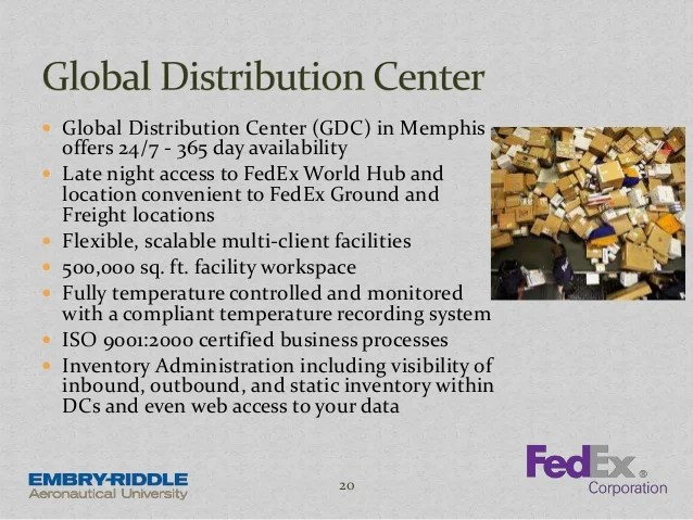 Hub Fedex Locations Map