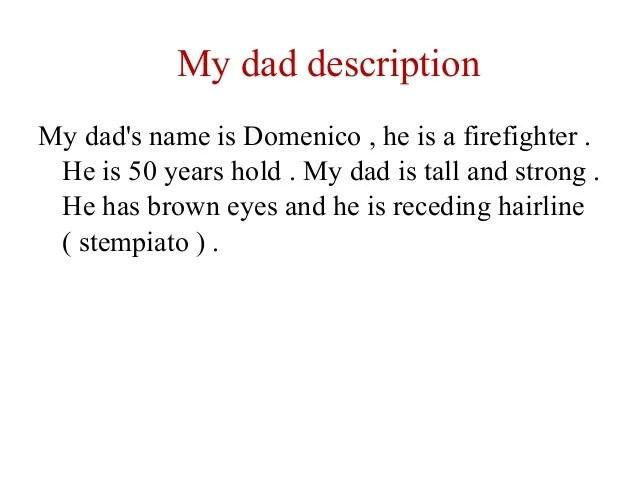 Descrizione di un componente della mia famiglia